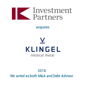 Tombstone IK Investment Partners 2018 englisch