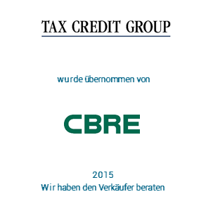 Tombstone TaxCredit CBRE Transaktion 2015