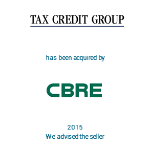 Tombstone Taxcredit CBRE Transaction 2015