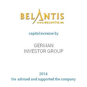 Tombstone Belantis Financing Transaction 2014