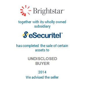 Tombstone Brightstar eSecuritel Transaction 2014