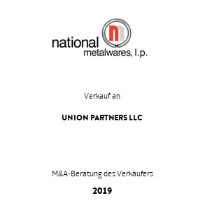 Tombstone NationalMetalware UnionPartners Transaktion 2019 deu