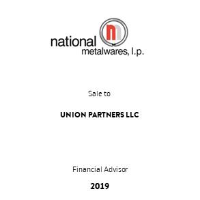 Tombstone Nationalmetalware Unionpartners Transaction 2019 en