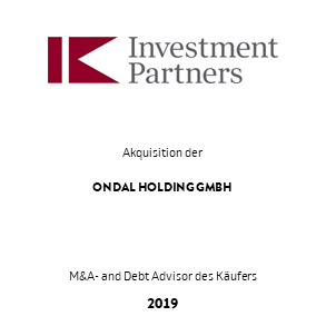 Tombstone IK Investment Ondal Transaktion 2019 de