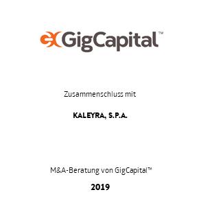 Tombstone GigCapital Kaleyra Transaktion 2019 de