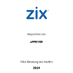 Tombstone Zix Appriver Transaktion 2019 de