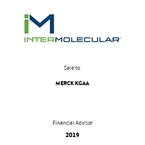 Tombstone Intermolecular Merck Transaction 2019 en