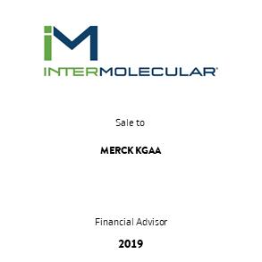 Tombstone Intermolecular Merck Transaction 2019 en