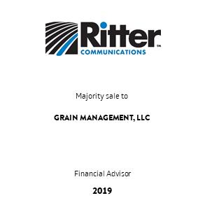Tombstone Ritter Grain Transaction 2019 en