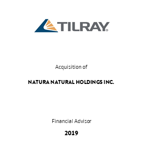 Tombstone Tilray Natura Transaction 2019 en