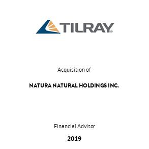 Tombstone Tilray Natura Transaction 2019 en