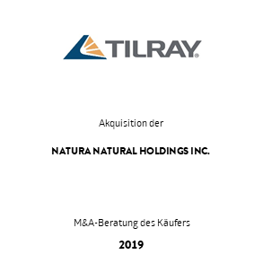 Tombstone Tilray Natura Transaktion 2019 de