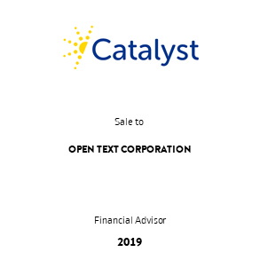 Tombstone Catalyst OpenText Transaction 2019 en