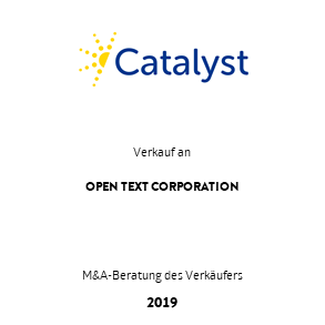 Tombstone Catalyst OpenText Transaktion 2019 de
