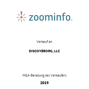 Tombstone Zoominfo Discover Transaktion 2019 de