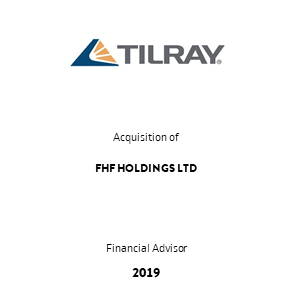 Tombstone Tilray FHF Transaction 2019 en