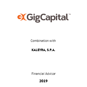 Tombstone GigCapital Kaleyra Transaction 2019 en