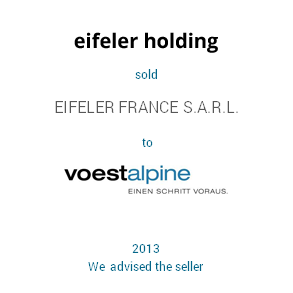 Tombstone Eifeler Voest Transaction 2013 en