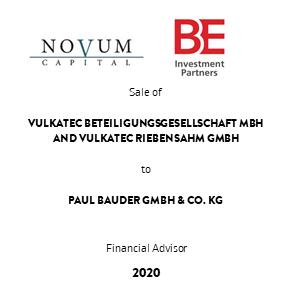 Tombstone BE Novum Bauder transaction 2020 en
