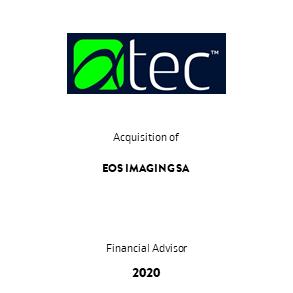 Tombstone Alphatec Eos Transaktion Cowen 2020 en