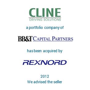 Tombstone Cline Rexnord Transaction 2012 en