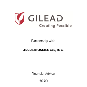 Tombstone Gilead Arcus Partnership 2020 en