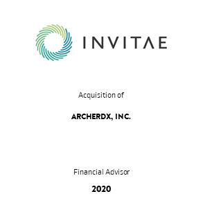 Transaktion Invitae Archer Transaction 2020 en