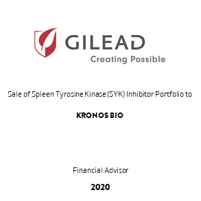 Tombstone Gilead Kronos Transaction 2020 en