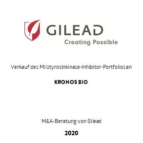 Tombstone Gilead Kronos Transaktion 2020