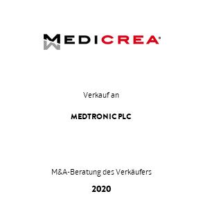 Tombstone Medicrea Medtronic Transaktion 2020